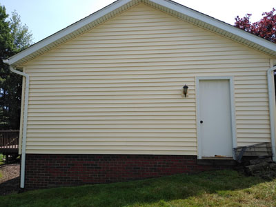 Vinyl Siding Cleaning after